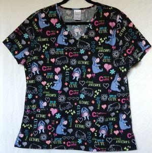 3 for $25 Women's Disney Eeyore Large scrub top